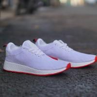 Sepatu Sneakers Adidas NMD R2 Women White Balck red Wanita