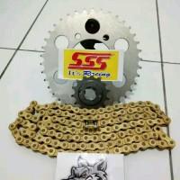 gear set sss 415 rantai gold cb150r cbr150r megapro tiger verza Glpro