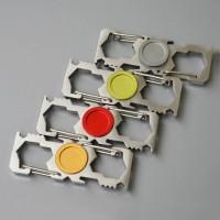 steel carabiner edc outdoor multifunction fidget spinner