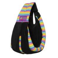 Gendongan Bayi Baba Slings Stripe - Black Rainbow