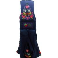 Gendongan Bayi Baba Slings Embroidery - Navy Mexican