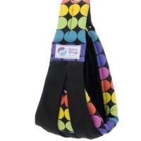 Gendongan Bayi Baba Slings Rainbow Dot Black