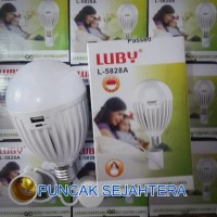 Lampu LED Luby emergency 18w 18 watt fungsi powerbank 2 baterai