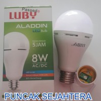 (Murah) Lampu LED emergency LUBY Aladdin 8w 8 watt