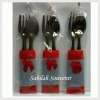(Sale) Souvenir Sendok Kecil+bungkus kain pur + Bungkus Plastik