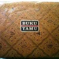 (Murah) buku tamu batik