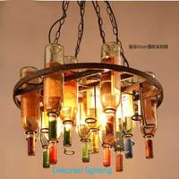 L677/4L ( 11 bottol) lampu gantung botol vintage Hias Dekor