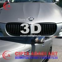 STIKER,STICKER CARBON SILVER 3D DOFT/MATT UNTUK MOBIL,MOTOR L-150 CM