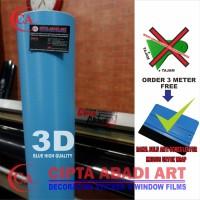 STIKER,STICKER CARBON BIRU 3D DOFT/MATT TERBARU L-150 CM