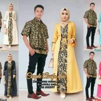 Baju Batik Couple Kebaya Batik Assifa Etnic Set Rok panjang Hem Kemeja