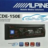 Single Din ALPINE CDE-150E CD Usb Front Aux In