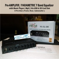 Pre-amp Equalizer NEXIA Built in Mp3 Usb /mmc