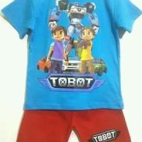 Setelan Anak Karakter Tobot size 1-6 - Kaos anak - Baju anak