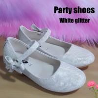 Sepatu anak perempuan pesta PARTY WHITE GLITTER