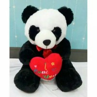(Murah) Boneka Panda Love Besar Bulu import halus