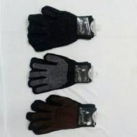 (Dijamin) Sarung Tangan Hitam Anti Slip Cowok Cewek Import