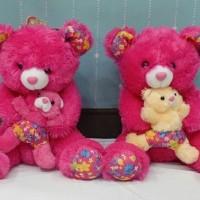 (Dijamin) Boneka Teddy Bear With Baby Besar Rasfur