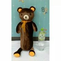 (Sale) Boneka Guling Brown Line Bulu Import
