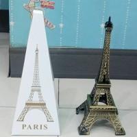 Gift Set Kado Pajangan Meja Menara Eiffel Paris Besar Logam Import