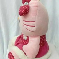 (Diskon) Boneka Hello Kitty Bunga Dress Bintik