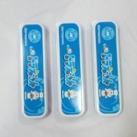 Kotak Sendok Set Dewasa Pegangan Keramik Anti Panas Import Doraemon