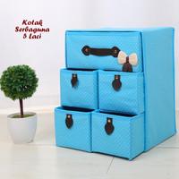 Kotak Serbaguna 5 Laci LIGHT BLUE (Kotak utk tempat pakaian dalam)