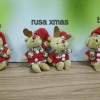 BONEKA ANJING / RUSA / BEAR CHRISTMAS / NATAL PER 2 PCS