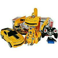 MAINAN ANAK RC MOBOL JADI ROBOT BUMBLE BEE