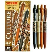 Pulpen Joyko Culture Batik BP-184 HITAM ( Per lusin )