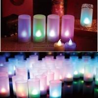 (Diskon) Lampu gelas panjang led lampu lilin elektrik slim