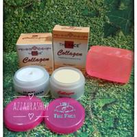 Paket Cream Collagen Day, Night dan Sabun Collagen The Face murah