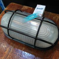 Lampu Dinding Kapal Fitting E27 Hitam / Ball Ice Hias Outdoor E-27