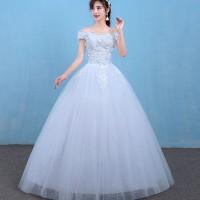 1706003 Putih Sabrina Gaun Pengantin Wedding Gown Wedding Dress