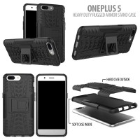 Oneplus 5 - Heavy Duty Rugged Armor Stand Case