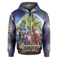 Jaket Hoodie Sweater Wanita THE AVENGERS 3D Fullprint PullOver ART 5