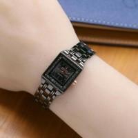 Promo laris jam tangan wanita seiko murah / jtr 1107 hitam Keren