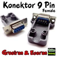 (Diskon) Kepala Konektor 9 Pin Female