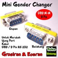 laris Mini Gender Changer - Gender DB9 Male 9 Pin Sambungan RS232