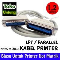 (Sale) Kabel Printer Dotmatrik LPT db25 Pin to db36 Pin 1,2 Meter