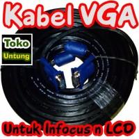 (Diskon) Kabel VGA to VGA 10 Meter Konektor Male to Male High Quality