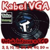 baru Kabel VGA to VGA 50 Meter Konektor Male to Male High Quality