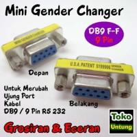 (Diskon) Mini Gender Changer - Gender DB9 Female Sambungan 9 Pin RS232