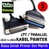 baru Kabel Printer Dotmatrik LPT db25 Pin to db36 Pin 5 Meter