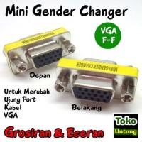 Mini Gender Changer - Gender VGA Female Sambungan 15 Pin