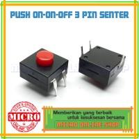 Switch Push On/On/Off 3 Pin Senter/ Saklar On On Off 3 Kaki
