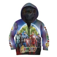 Jaket Hoodie Sweater Anak Tema THE AVENGERS 3D FullPrint - Art 5