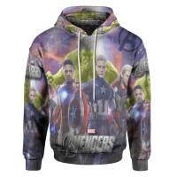 Jaket Hoodie Sweater Wanita Tema THE AVENGERS 3D Pull Over - Art 2