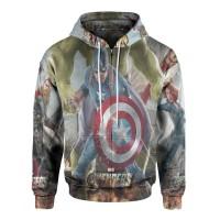 Jaket Hoodie Sweater Wanita Tema THE AVENGERS 3D Zipper - Art 4