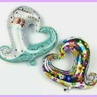 balon foil love lubang tengah/forever always/love bunga/balon hati