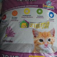 Pasir Kawan Paket 3 Pasir Bentonite Pasir Kucing Wangi 20kg Via GO-JEK